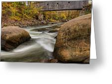 Bulls Bridge Autumn Square Greeting Card by Bill  Wakeley