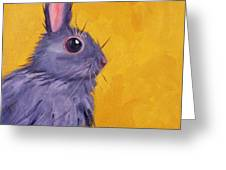 Bunny Greeting Card by Nancy Merkle