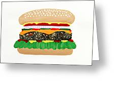 Burger Me Greeting Card by Andee Design