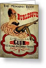 Burlesque Club Greeting Card by Cinema Photography
