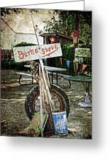 Burma Shave Sign Greeting Card by RicardMN Photography