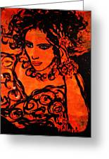 Burning Desire Greeting Card by Natalie Holland