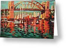 Burrard St. Bridge Greeting Card by Brian Simons