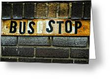 Bus Stop Greeting Card by Jeff Burton