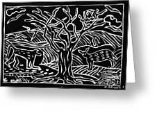Bushveld Indaba Greeting Card by Caroline Street