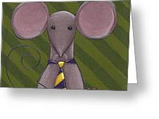 Business Mouse Greeting Card by Christy Beckwith