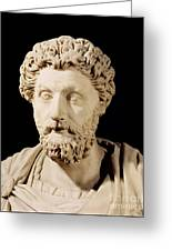 Bust Of Marcus Aurelius Greeting Card by Anonymous