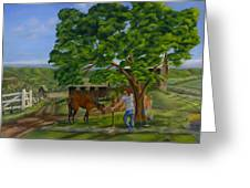 Buster's Retreat Greeting Card by William Allen