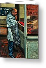 Butchers Profit Greeting Card by Bob Northway
