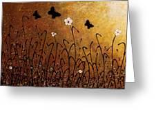 Butterflies Landscape Greeting Card by Carmen Guedez