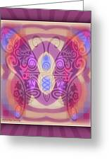 Butterfly Blues Greeting Card by Kristine Rae Hanning