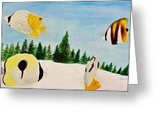 Butterfly Fish Greeting Card by Savanna Paine