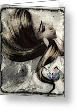Butterfly In Her Hair Greeting Card by Gun Legler