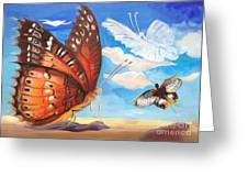 Butterfly Paysage 2 Greeting Card by Art Ina Pavelescu