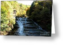 Buttermilk Falls Ithaca New York Greeting Card by Rose Santuci-Sofranko