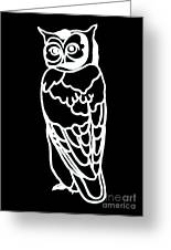Bw Owl Greeting Card by Amy Sorrell