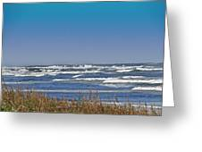 By The Sea Greeting Card by Dennis Dugan