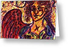 Byzantine Angel Greeting Card by Rachel Scott