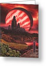 Cabernet Wine Country Fantasy Greeting Card by Stu Shepherd