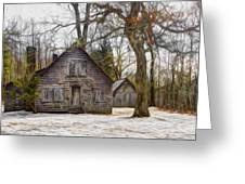 Cabin Dream Greeting Card by Debra and Dave Vanderlaan