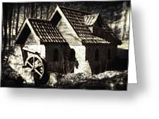 Cabin In The Woods Greeting Card by Wim Lanclus