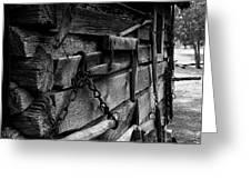 Cabin Wall II Greeting Card by Julie Dant