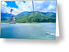 Cable Car Greeting Card by Niphon Chanthana
