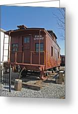 Caboose Greeting Card by Skip Willits