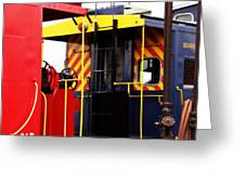 Cabooses Greeting Card by Rodney Williams