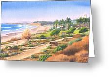 Cactus Garden At Powerhouse Beach Greeting Card by Mary Helmreich