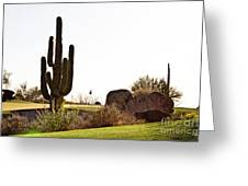 Cactus Golf Greeting Card by Scott Pellegrin