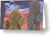 Cactus Of Color 1 Greeting Card by Marcia Weller