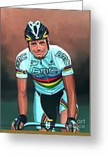 Cadel Evans Greeting Card by Paul Meijering