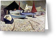 Cadgwith The Lizard Greeting Card by Eric Hains