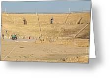 Caesarea Israel Ancient Colosseum Greeting Card by Robert Birkenes