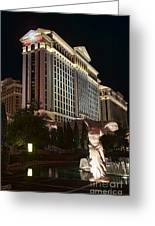 Caesar's Palace Greeting Card by Eddie Yerkish