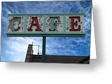 Cafe Greeting Card by Glenn McCarthy Art and Photography