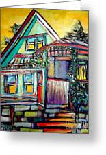Cafe In Revelsoke Bc Canada Greeting Card by Aeris Osborne