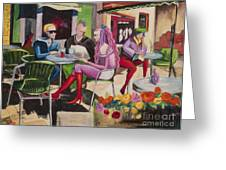 Cafe Marseille Greeting Card by Elisabeta Hermann