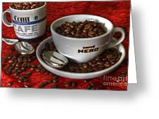 Cafe Nero Greeting Card by Tracy  Hall