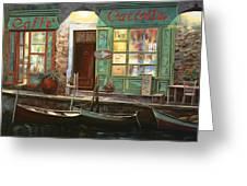 caffe Carlotta Greeting Card by Guido Borelli