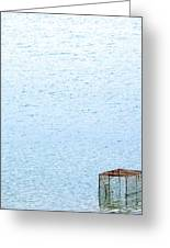 Caged Expanse Greeting Card by Justin Woodhouse