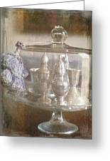 Cake Stand With Tassel Greeting Card by Suzanne Powers