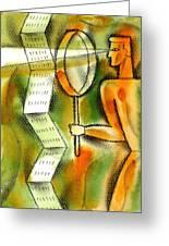 Calculation Greeting Card by Leon Zernitsky