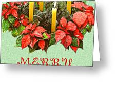 California Cactus Christmas Greeting Card by Mary Helmreich