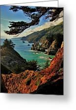 California Coastline Greeting Card by Benjamin Yeager