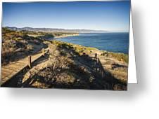 California Coastline From Point Dume Greeting Card by Adam Romanowicz