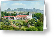 California Mission San Luis Rey Greeting Card by Mary Helmreich