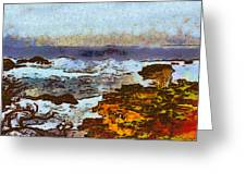 California Seascape Greeting Card by Barbara Snyder
