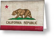 California State Flag Greeting Card by Pixel Chimp